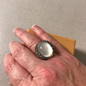 Michael Dawkins Starry Night Mother of Pearl Ring